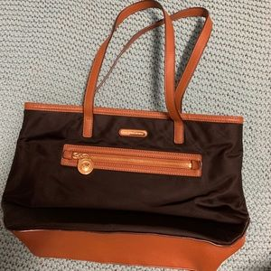 Black and brown Michael Kors purse